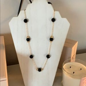 J Crew Black and Gold Beaded Necklace